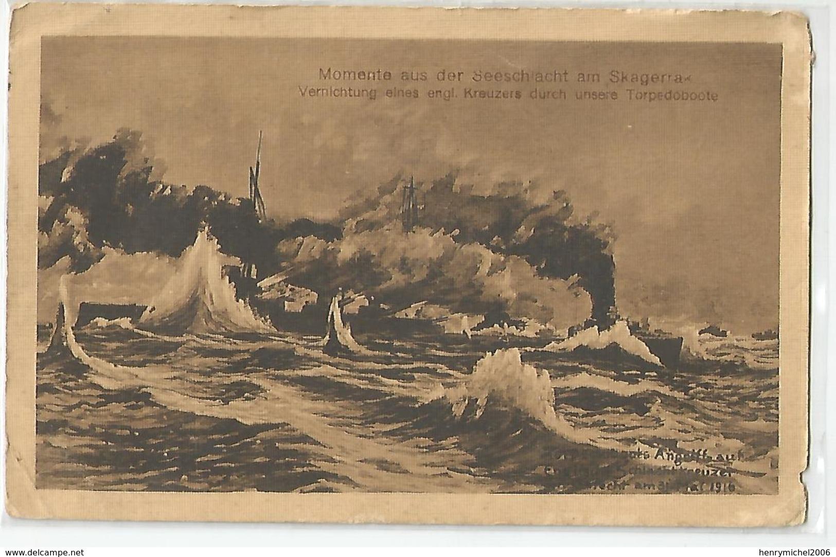 Cpa Bateau De Guerre 1916 Momente Aus Der Seeschaiacht Am Skagerra Torpedoboote 2scans Marcophilie - Guerre 1914-18