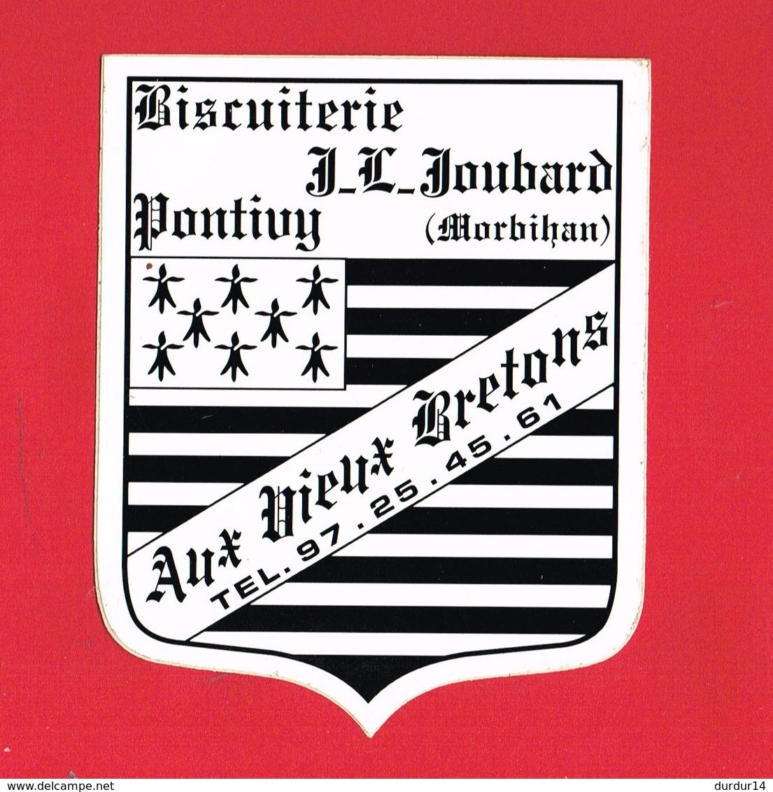 1 Autocollant BISCUITERIE J.L. JOUBARD PONTIVY MORBIHAN - Autocollants