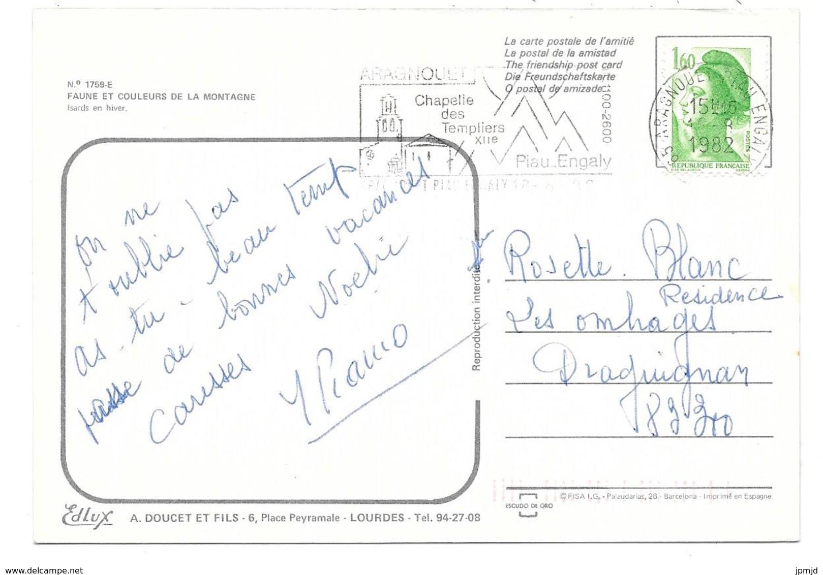 PYRÉNÉES - ISARDS En Hiver - Editions A. DOUCET N° 1759-E - 1982 - Autres