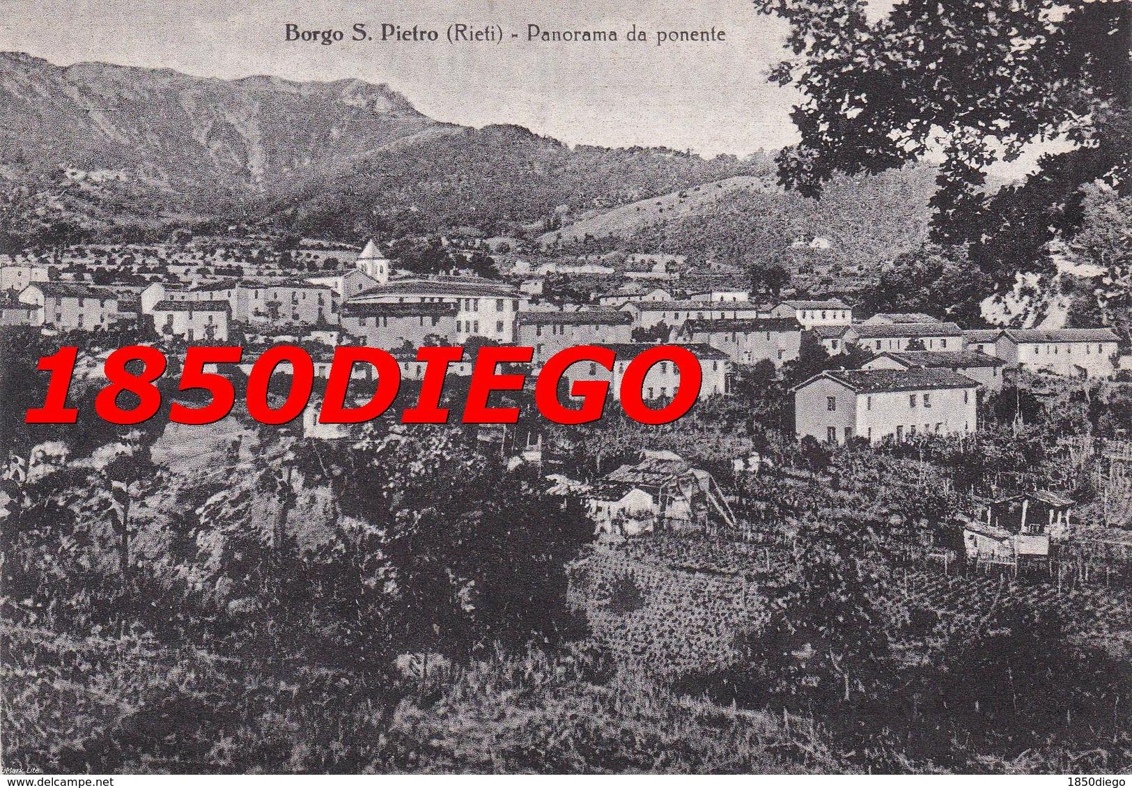 BORGO S. PIETRO - PANORAMA DA PONENTE F/GRANDE VIAGGIATA 1956 - Rieti