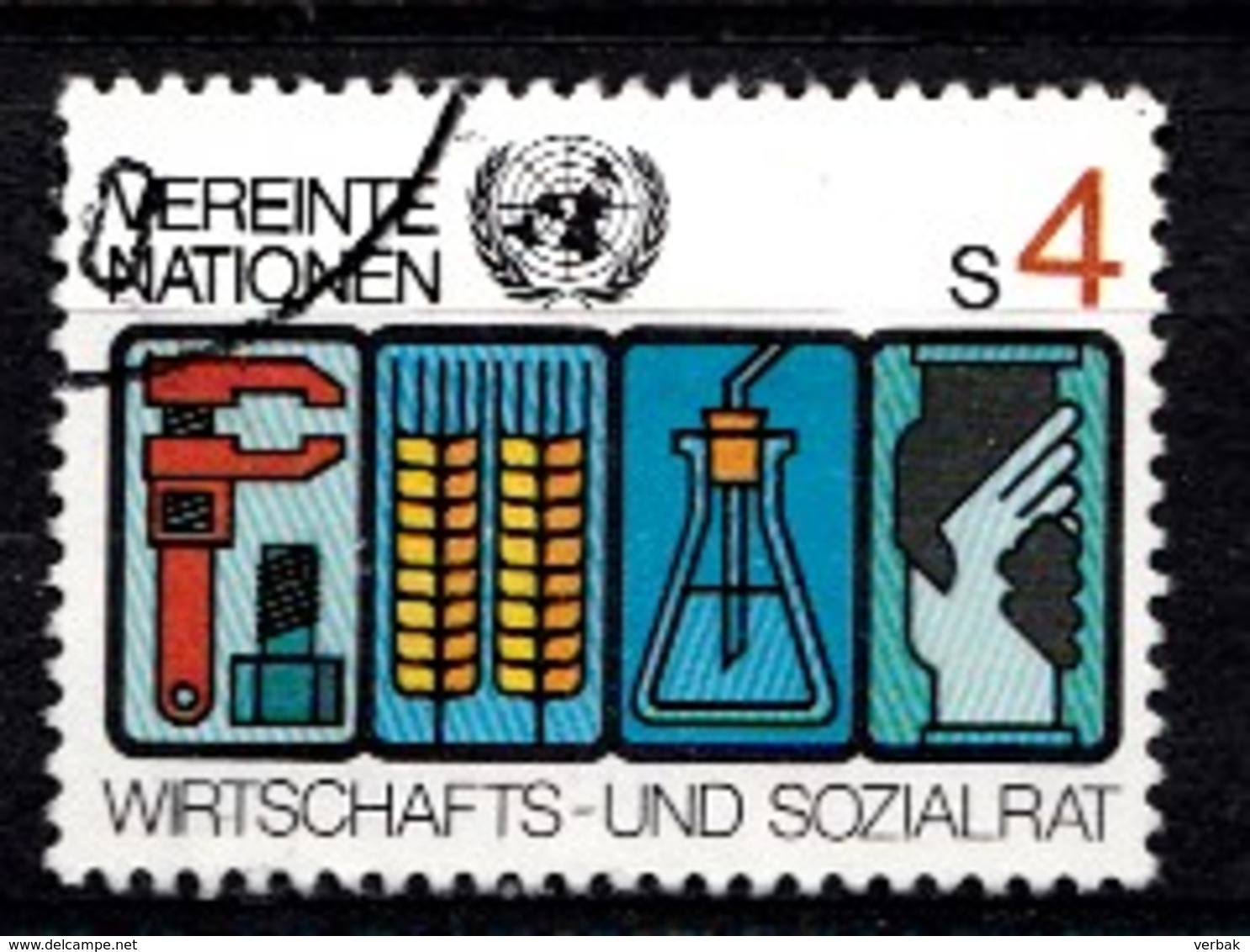 Nations Unies Wenen 1980 Mi.Nr: 14 Symbole Für...  Oblitèré / Used / Gebruikt - Centre International De Vienne