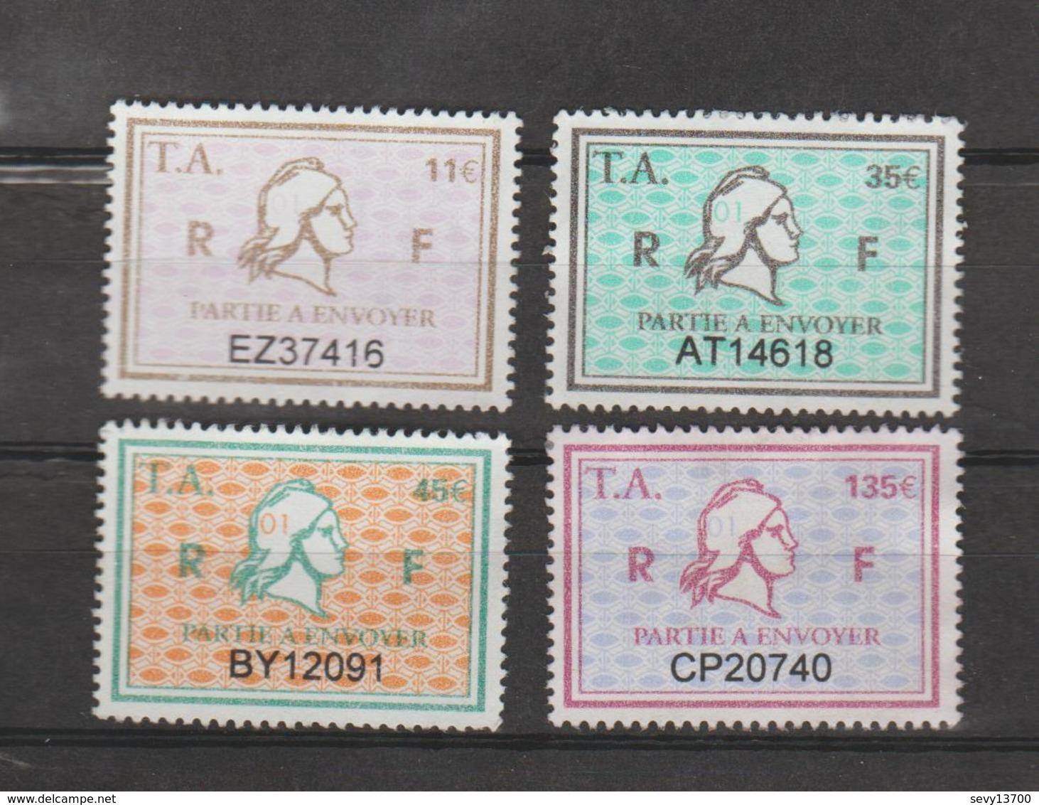Série Timbres Fiscaux - 4 Timbres Amende Millésime 01 - Steuermarken