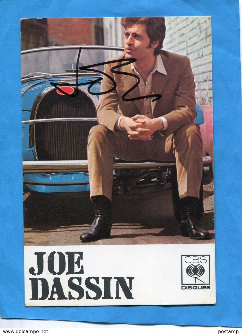 JOE DASSIN-Carte Avec Autographe Manuscrit  Années 70 - Artistes