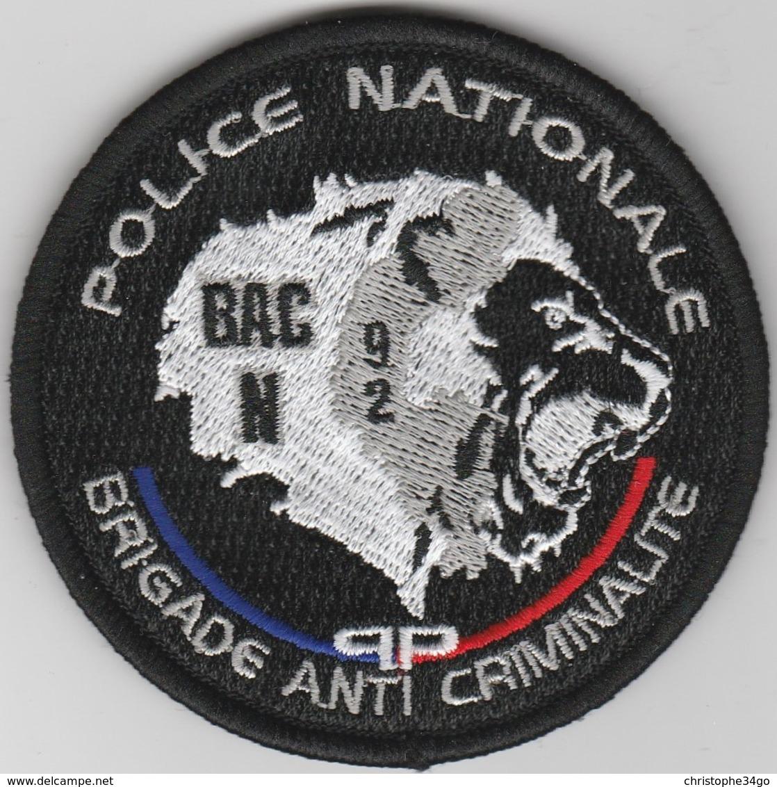 Écusson Police BAC 92N - Police & Gendarmerie