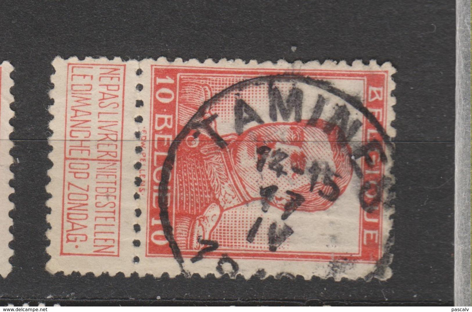 COB 118 Oblitération Centrale TAMINES - 1912 Pellens