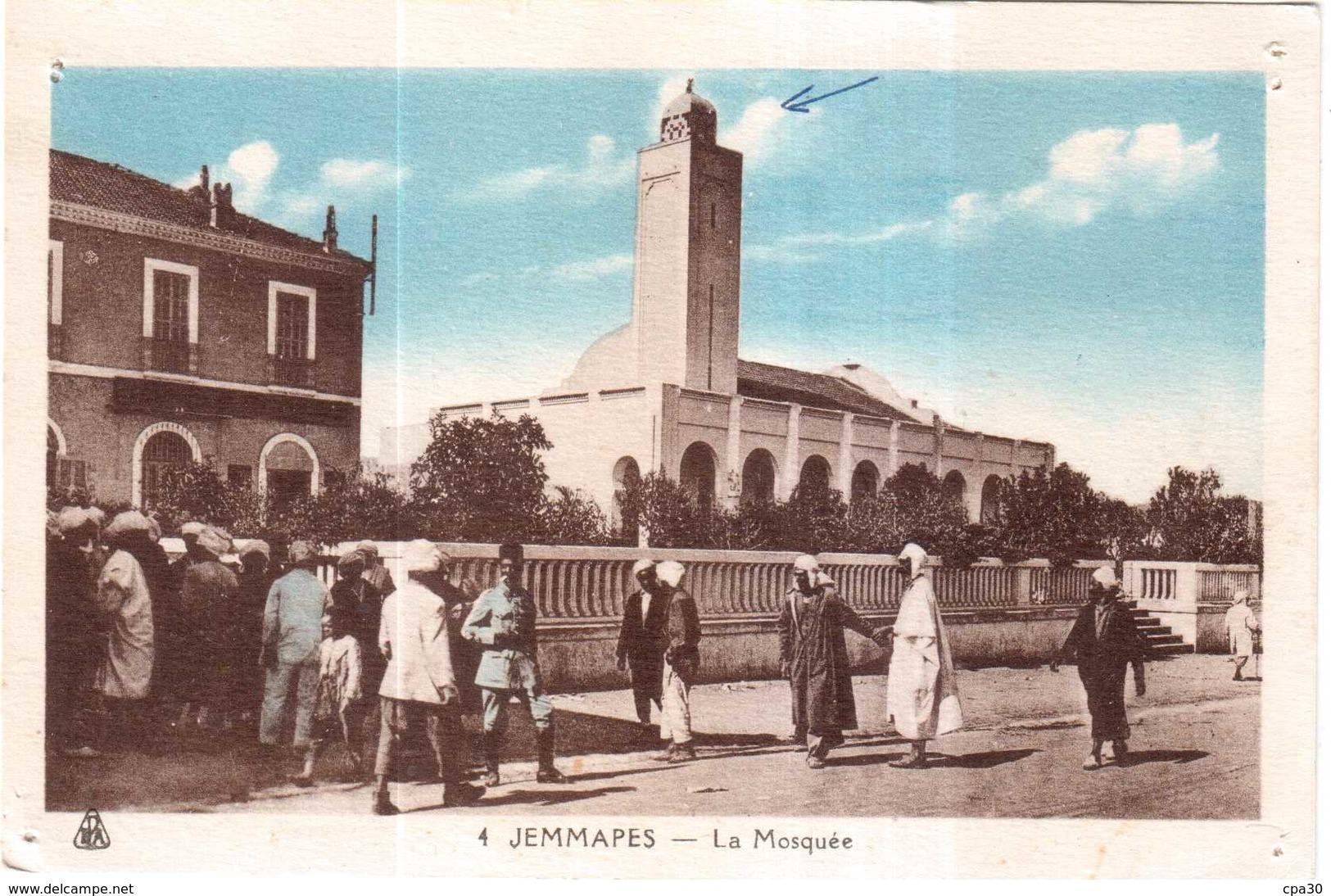 CPA ALGERIE.JEMMAPES.LA MOSQUEE - Algérie