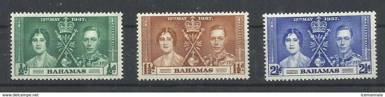 BAHAMAS  YVERT  98/100  MH  * - Bahamas (...-1973)