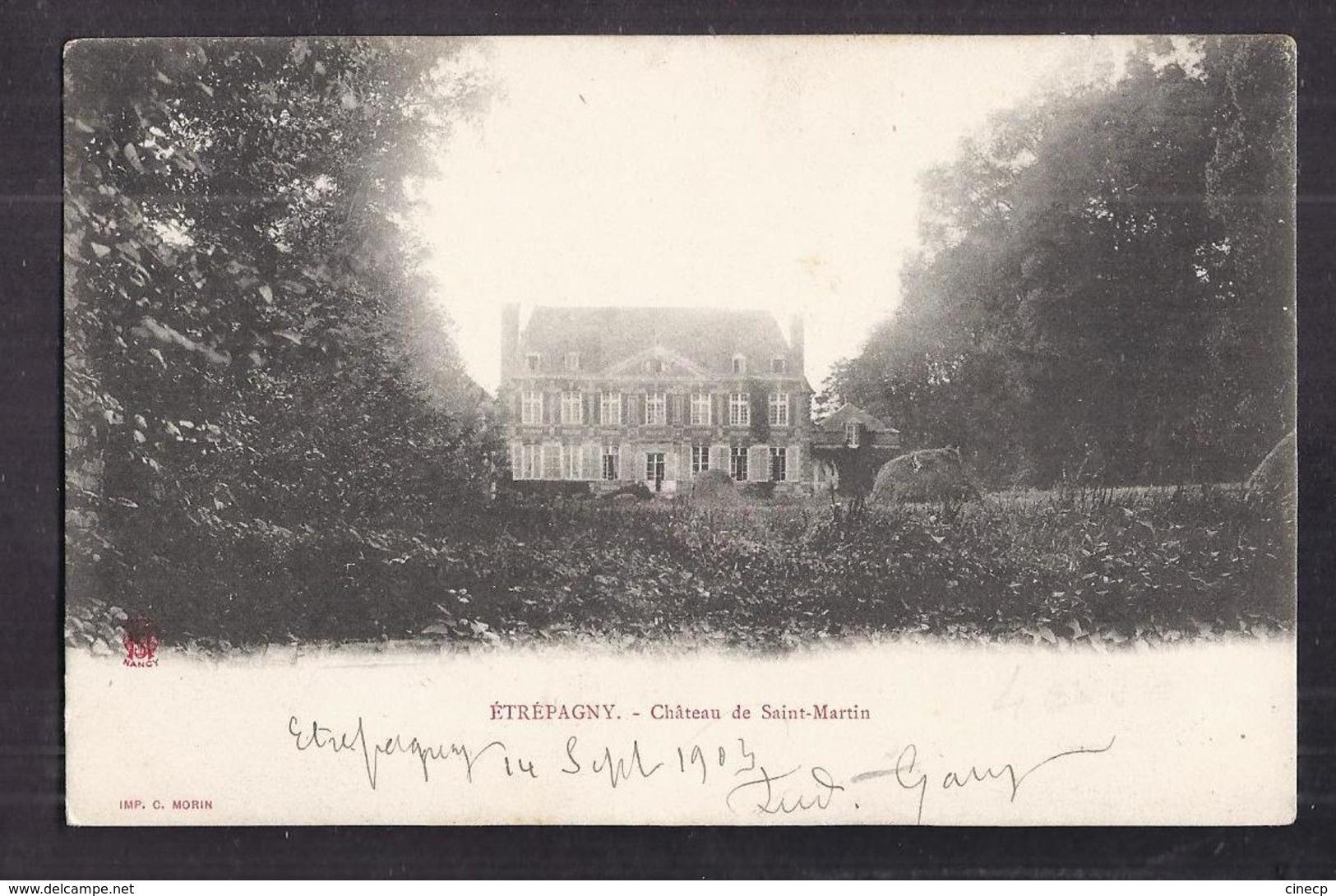 CPA 27 - SAINT-MARTIN - ETREPAGNY - Etrépagny - Château De Saint-Martin - TB PLAN EDIFICE Et Sa Façade 1903 - Altri Comuni