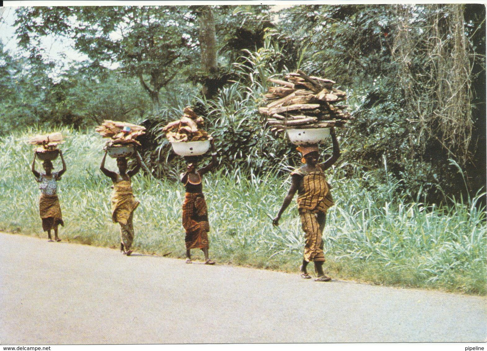 Togo Postcard Poorteuses De Bois Sent To Germany 11-11-1984 - Togo