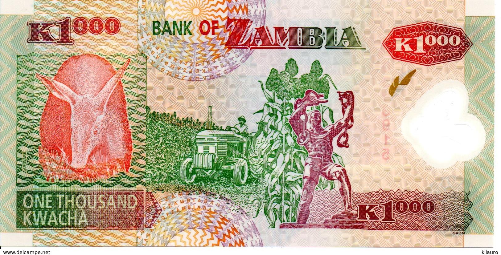 ZAMBIE ZAMBIA 2009 - Billet K1000 Plastifié Plastic -TBE Aigle Animal Oiseau - Zambie