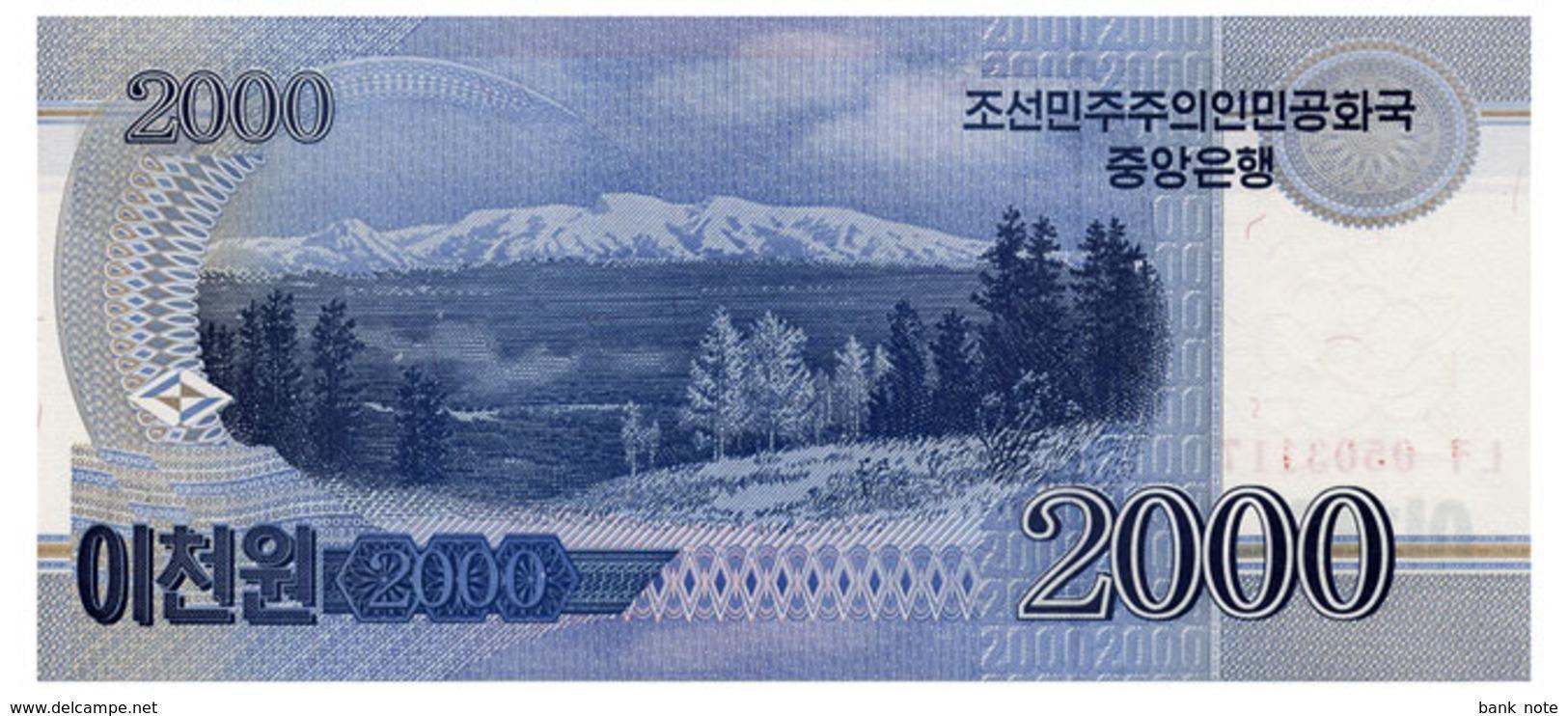 NORTH KOREA 2000 WON 2008 Pick 65 Unc - Corée Du Nord