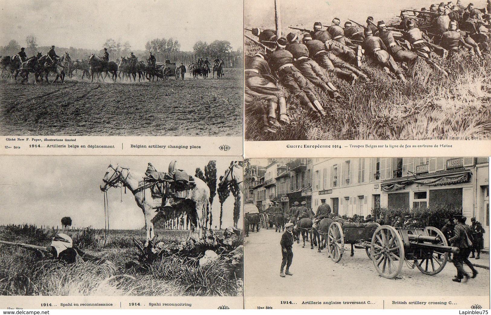 CPA Guerre 14 Belges Spahi Reconnaissance Troupes Artillerie Anglaise Ligne Feu Maline - Guerre 1914-18