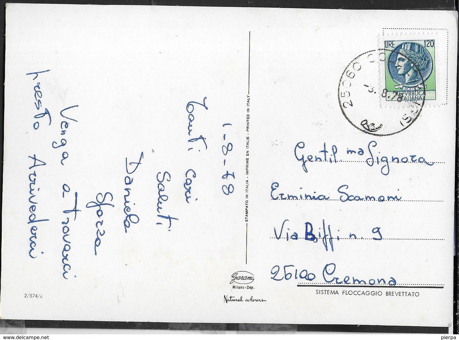 STELLA ALPINA - PETALI BIANCHI IN STOFFA - VIAGGIATA 1978 - Altri