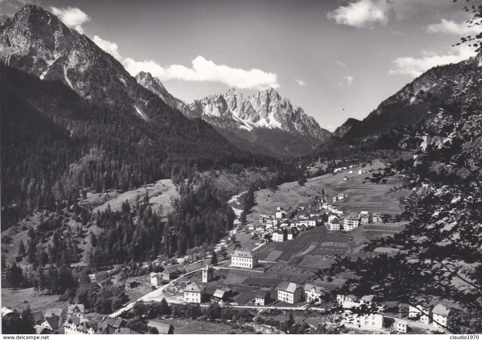 CARTOLINA - UDINE - CARNIA - FORNI AVOLTRI (M. 900) CON I MONTI TUGLIA E SIERA -VIAGGIATA DA PER VILMINORE (BERGAMO) - Udine