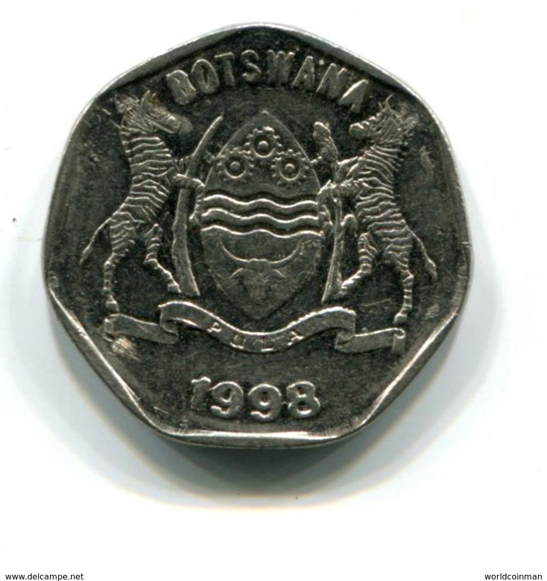 1998 Botswana 25 Thebe Coin - Botswana