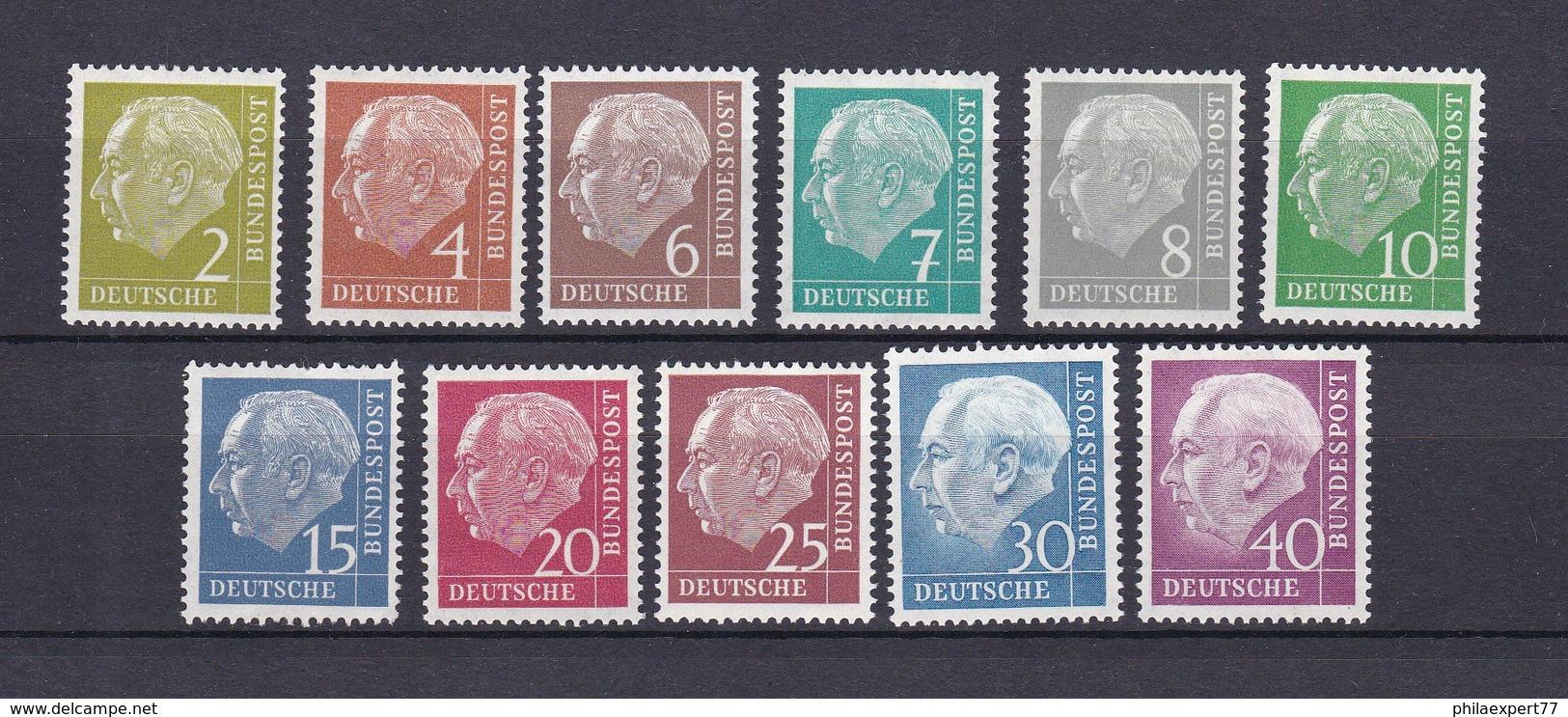 BRD - 1954 - Michel Nr. 177/78+180/188 - Ungebr. - 25 Euro - BRD
