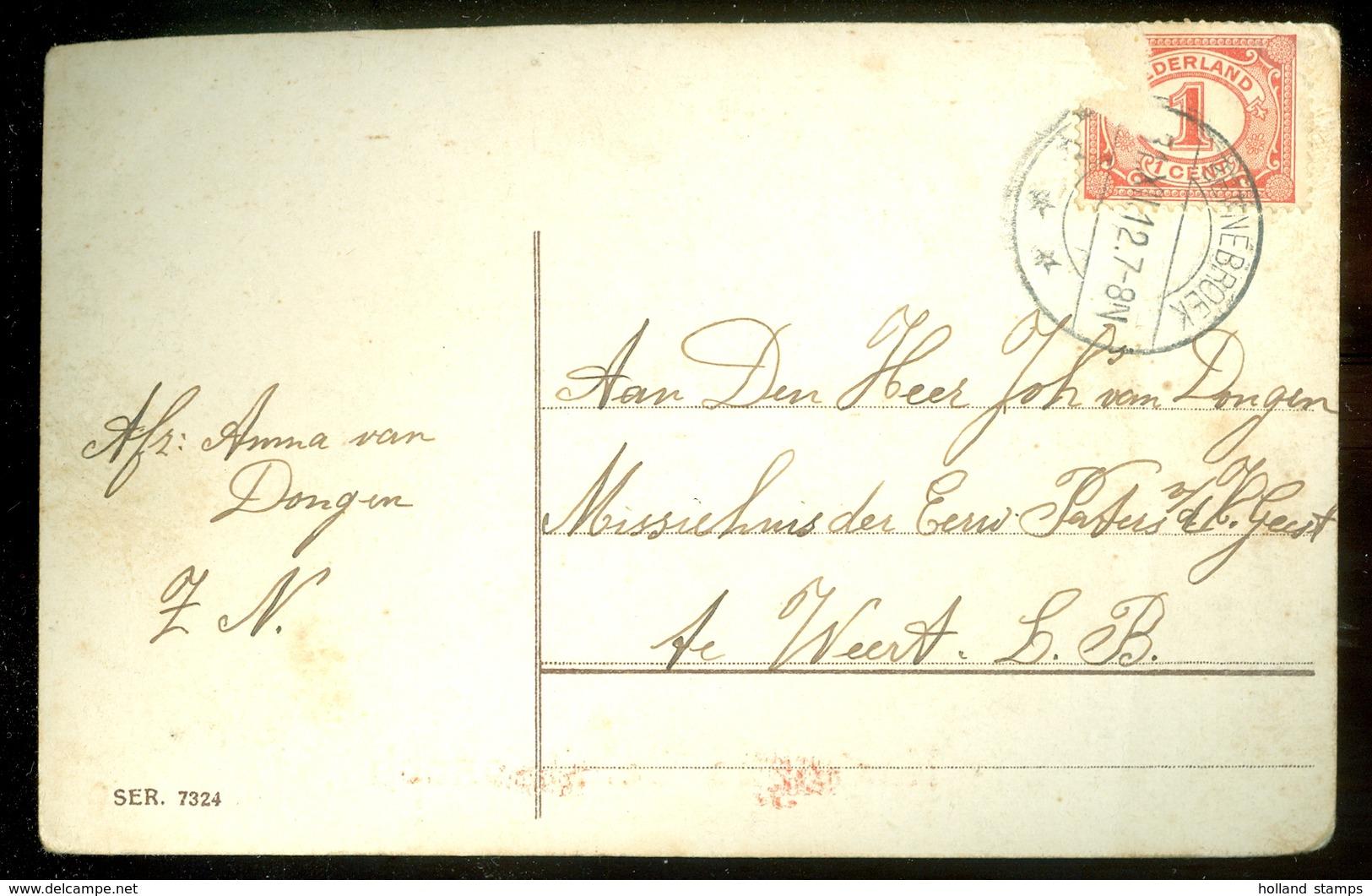 HANDGESCHREVEN POSTKAART Uit 1912 Van BENNEBROEK Naar WEERT (11.556M) - Brieven En Documenten