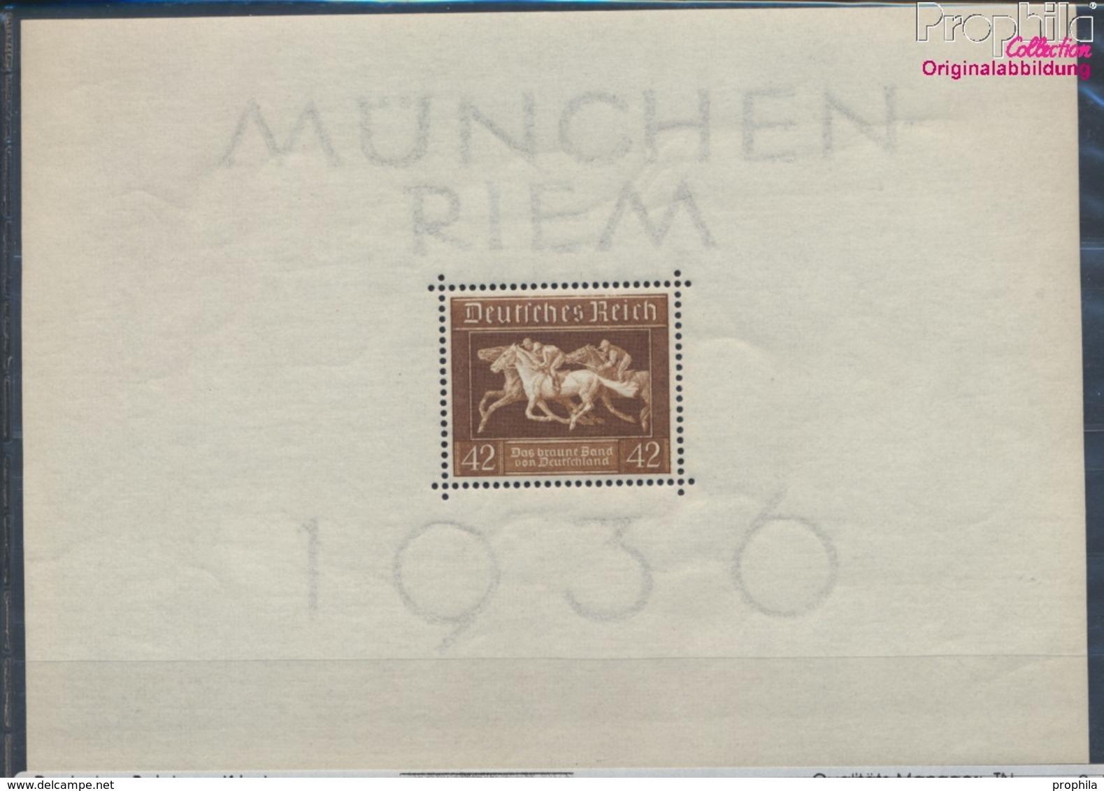 Deutsches Reich Block4 (kompl.Ausg.) Postfrisch 1936 Das Braune Band Pferderennen (8111918 - Blocks & Kleinbögen