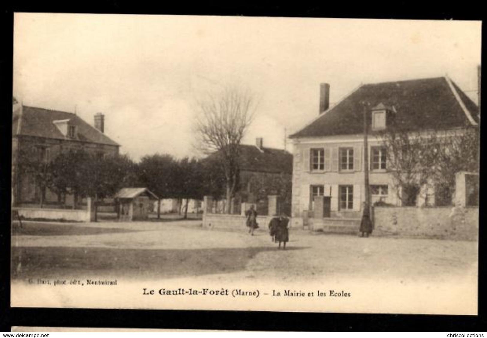 51 - LE GAULT LA FORET (Marne) - La Mairie Et Les Ecoles - France