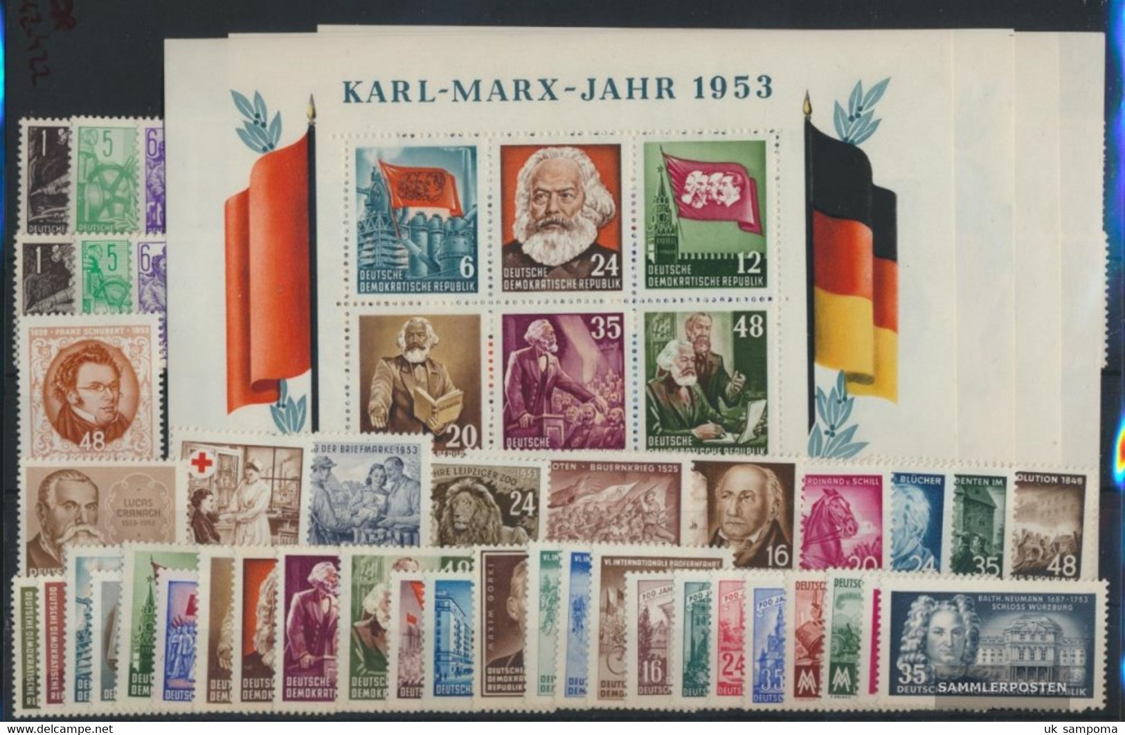 DDR 342-422 (complete Issue) With Miniature Sheet 8-9 A And B, Volume 1953 Completeett Unmounted Mint / Never Hinged 195 - Unused Stamps
