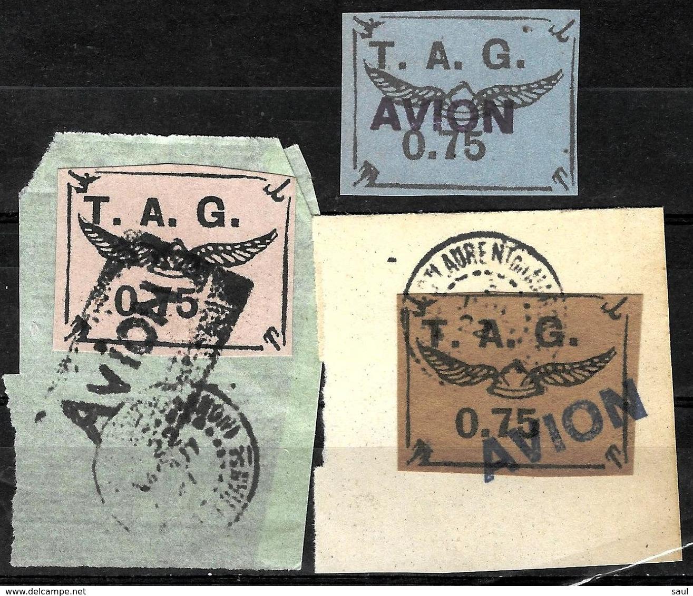 315 - FRANCE - GUYANE - 1920 - AIR MAIL - FORGERIES - FAUX - FALSCHEN - Sammlungen (ohne Album)