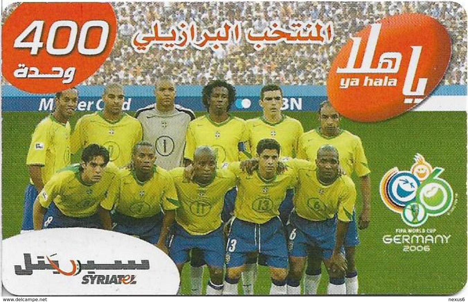 Syria - Syriatel - Football Teams Wrold Cup 2006 - Brazil, Exp. 31.12.2009, Prepaid 200U, Used - Syria