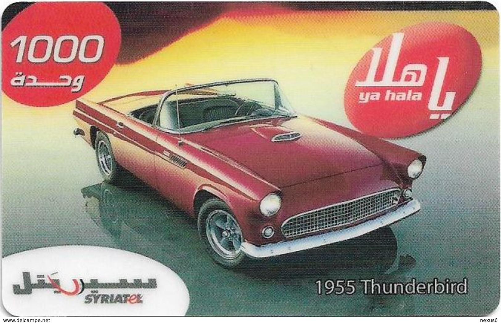 Syria - Syriatel - Cars - 1955 Thunderbird, Exp. 31.12.2008, Prepaid 1000U, Used - Syria