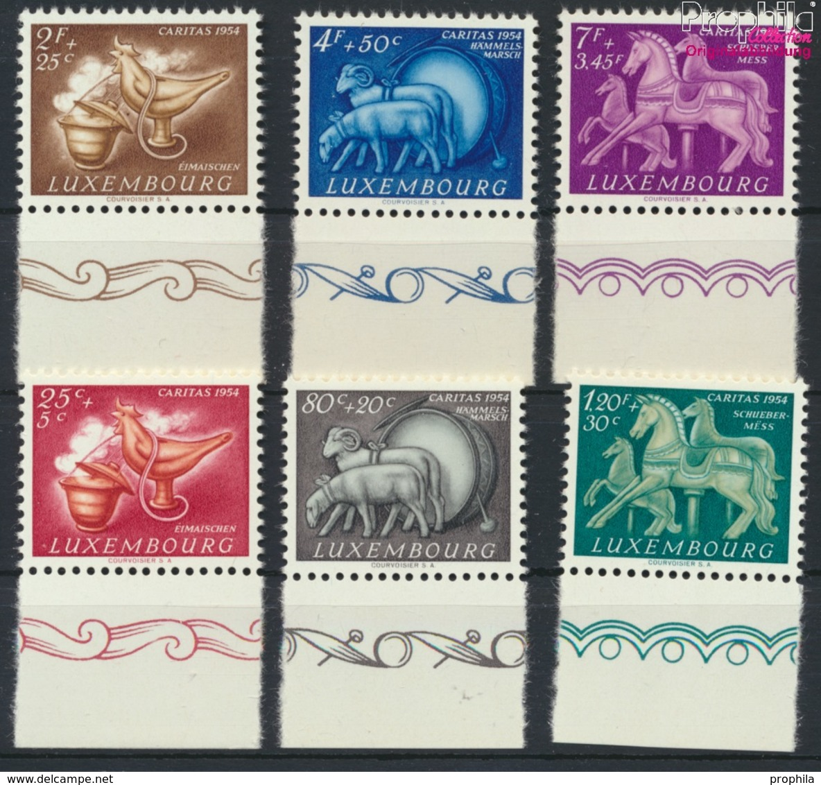 Luxemburg 525-530 (kompl.Ausg.) Postfrisch 1954 Brauchtum (9256357 - Ungebraucht