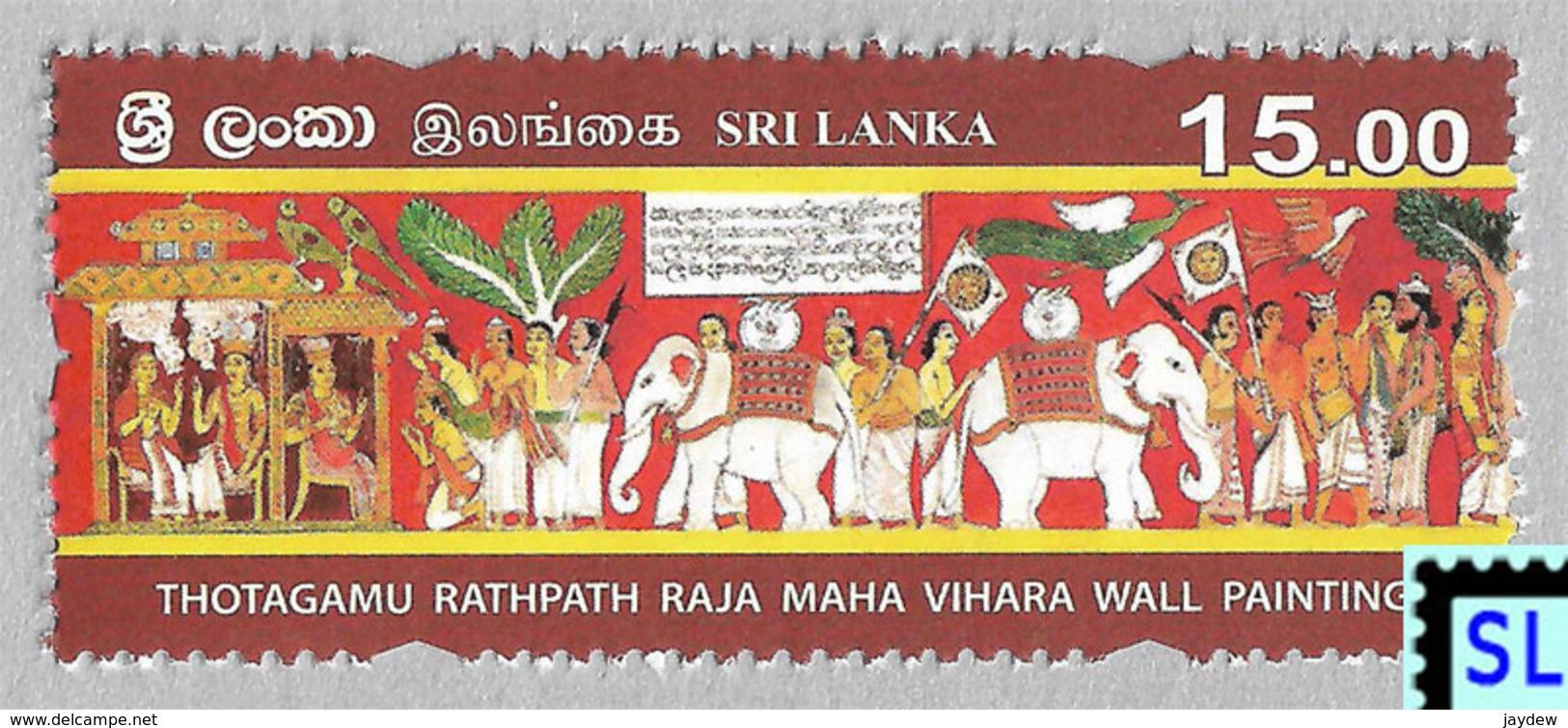 Sri Lanka Stamps 2019, State Vesak, Buddha, Buddhism, Elephants, Elephant, Arts, Painting, MNH - Sri Lanka (Ceylon) (1948-...)