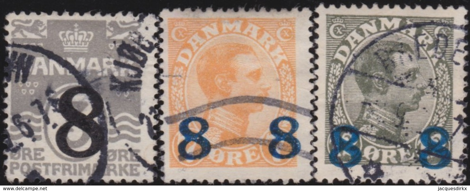 Danmark  .      Yvert   127/129      .       O     .         Cancelled   .    /   .   Gebruikt - 1913-47 (Christian X)