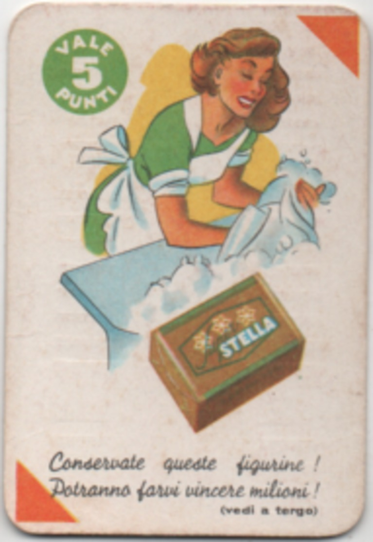 Figurina Mira Lanza 5 Punti Stella Arancione - Trade Cards