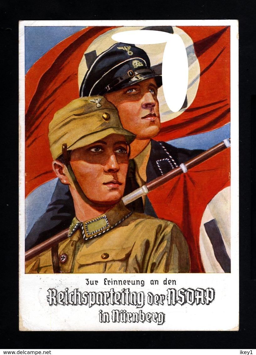 13549-GERMAN EMPIRE-MILITARY PROPAGANDA POSTCARD RICHSPARTEITAGE Nurnberg.NSDAP.1934.WWII.DEUTSCHES REICH.POSTKARTE - Allemagne
