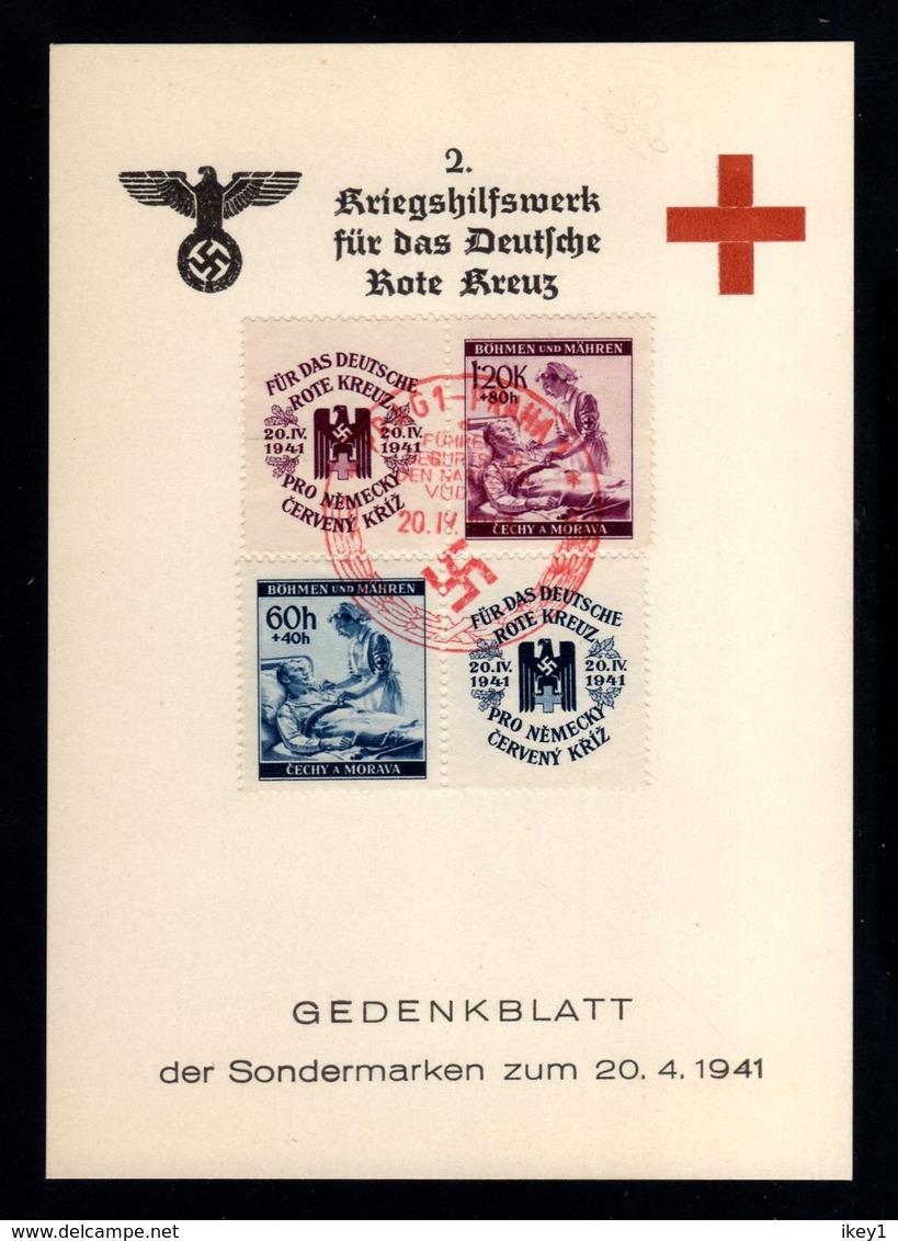 J41-GERMAN EMPIRE-MILITARY PROPAGANDA CARD German RED CROSS.1941.WWII.Gedenkblatt.DEUTSCHES REICH.KARTE - Briefe U. Dokumente