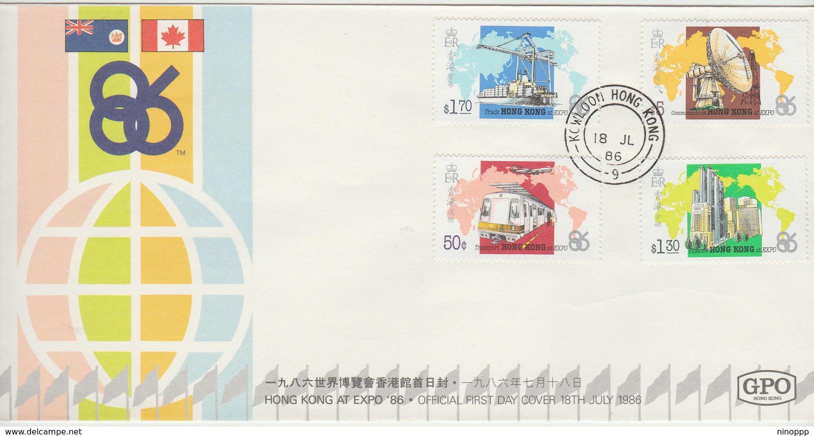 Hong Kong 1986 Expo FDC - Unclassified