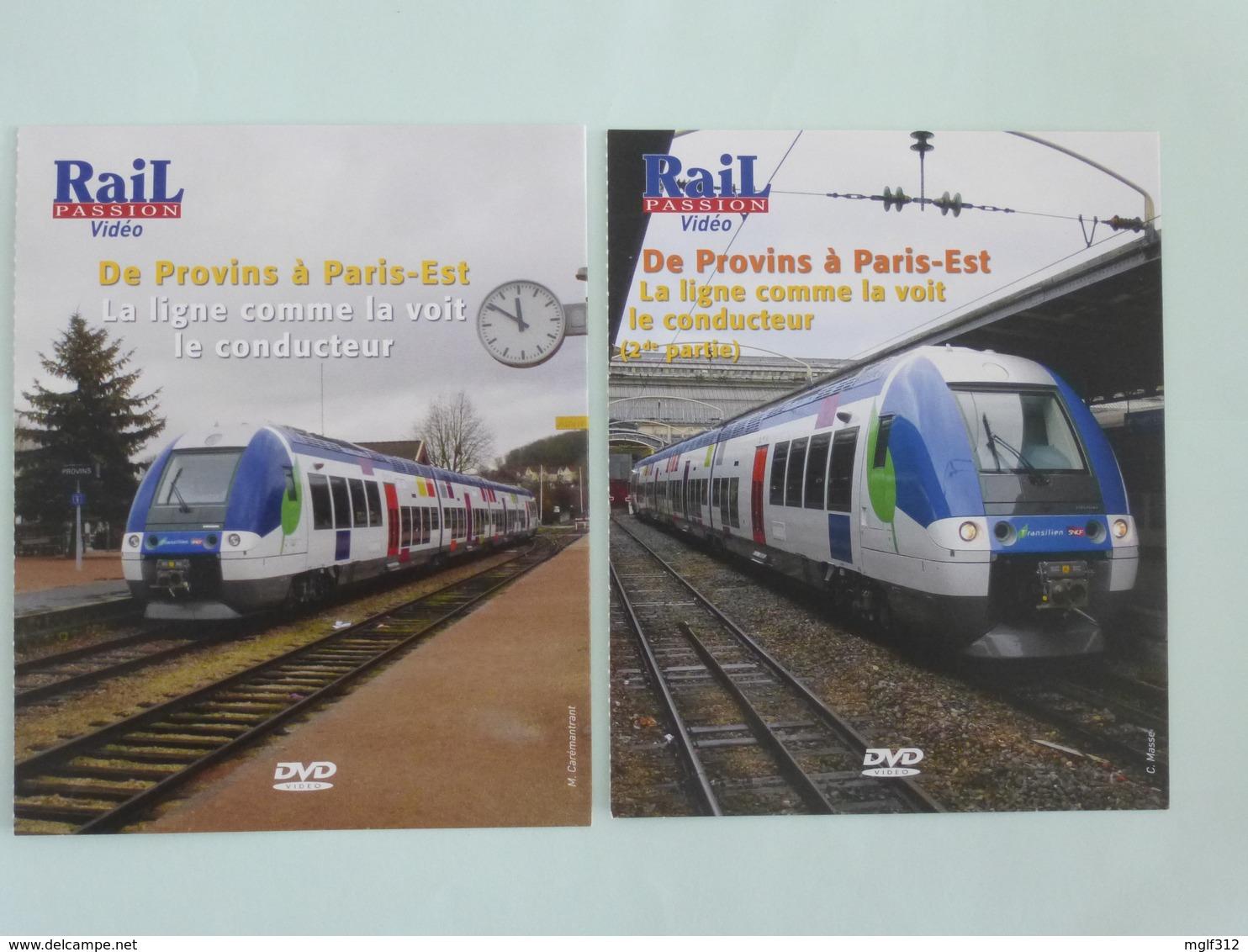 TRAINS : Lot De 2 DVD - De PROVINS à PARIS-EST La Ligne Comme La Voit Le Conducteur - Détails Sur Le 2ème Scan. - Documentaires