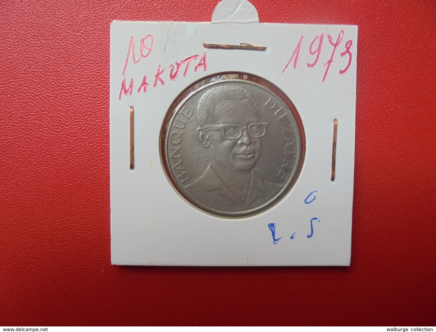 ZAIRE 10 MAKUTA 1973 - Zaire (1971-97)