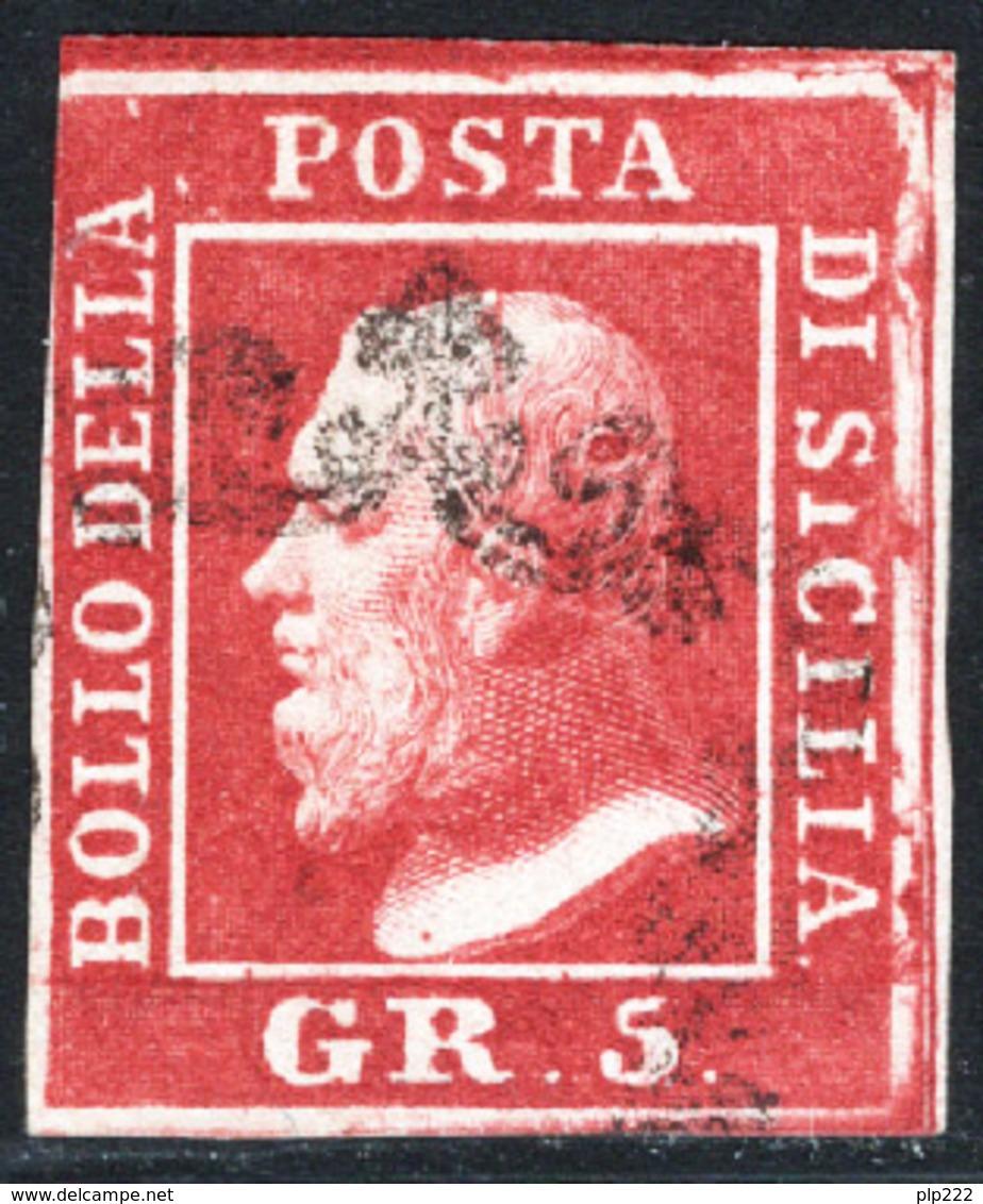 Sicilia 1859 Sass.9 O/Used VF/F - Sicilia