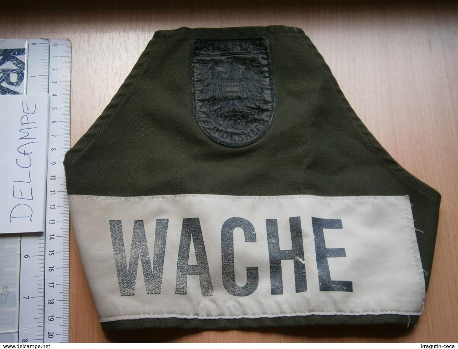 Wache Austria Guard Sleeve Patch Emblem Österreich FLICKEN ARMY KFOR SFOR PEACE - Scudetti In Tela