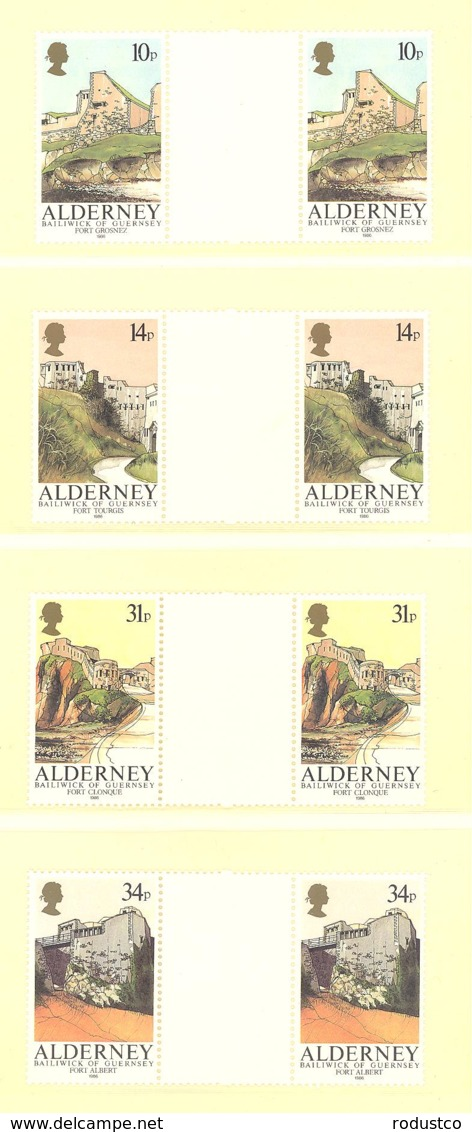 Alderney  Michel #  28 - 31  ** Gutter Paare - Alderney