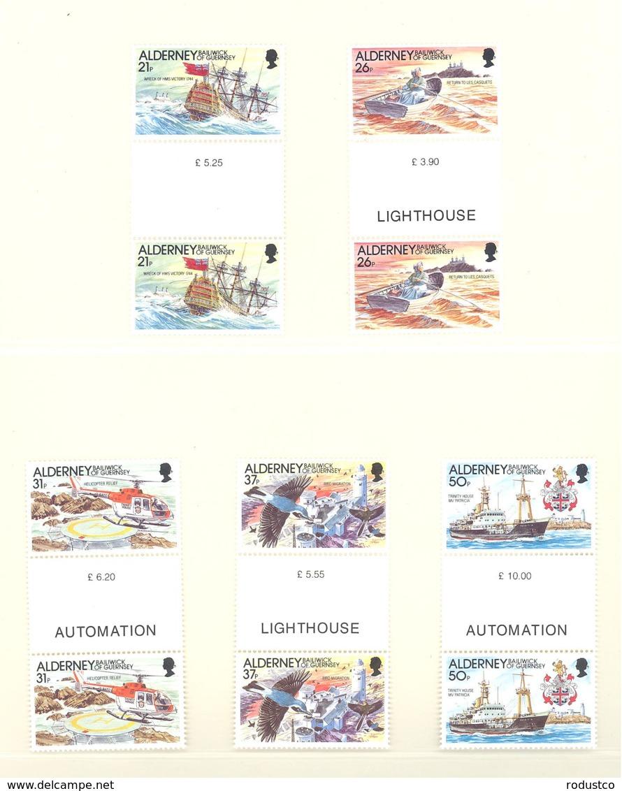 Alderney  Michel #  49 - 53  ** Gutter Paare - Alderney