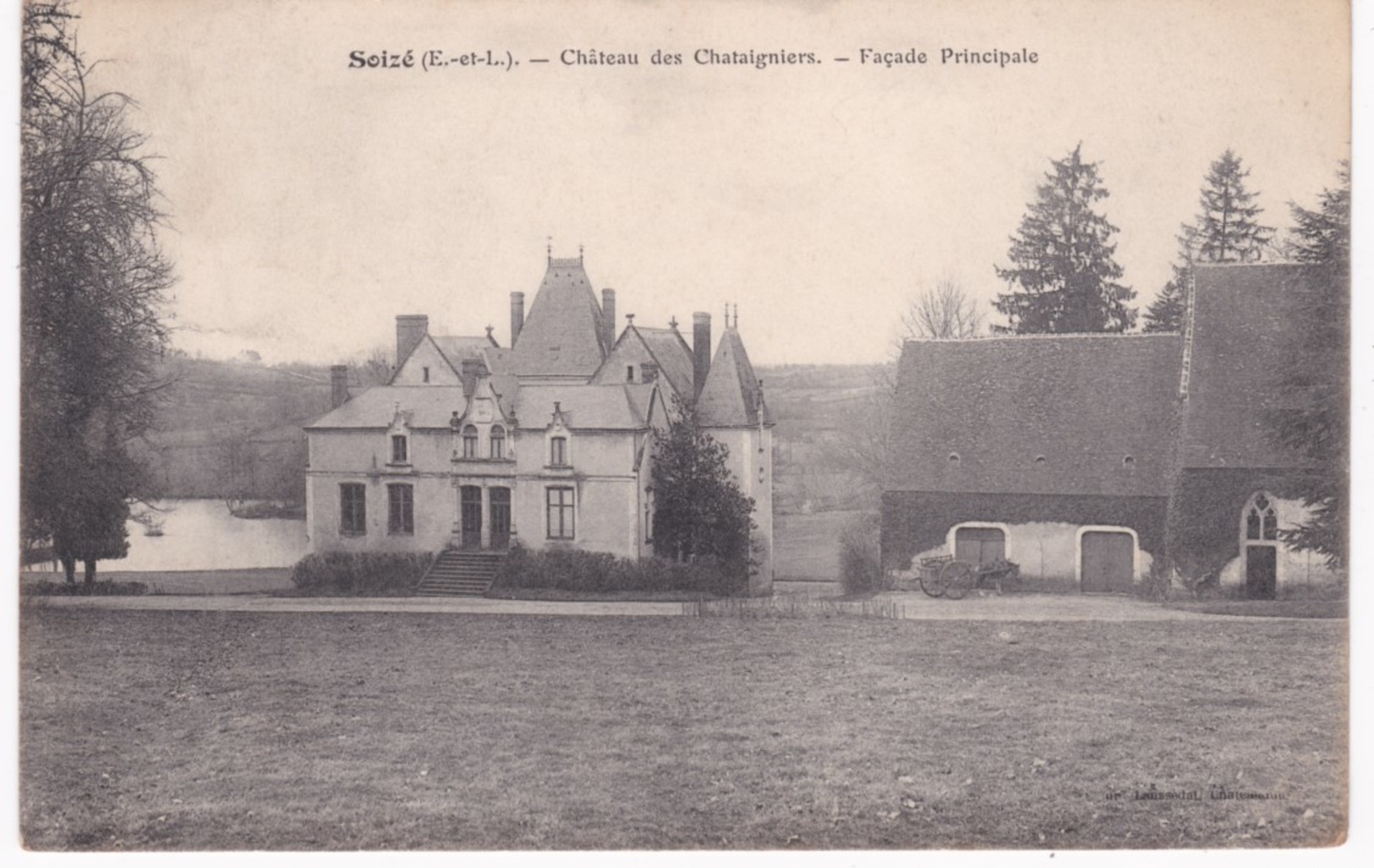 28 Eure Et Loir -  SOIZE - Château Des Chataigniers - Façade Principale - 1905 - France