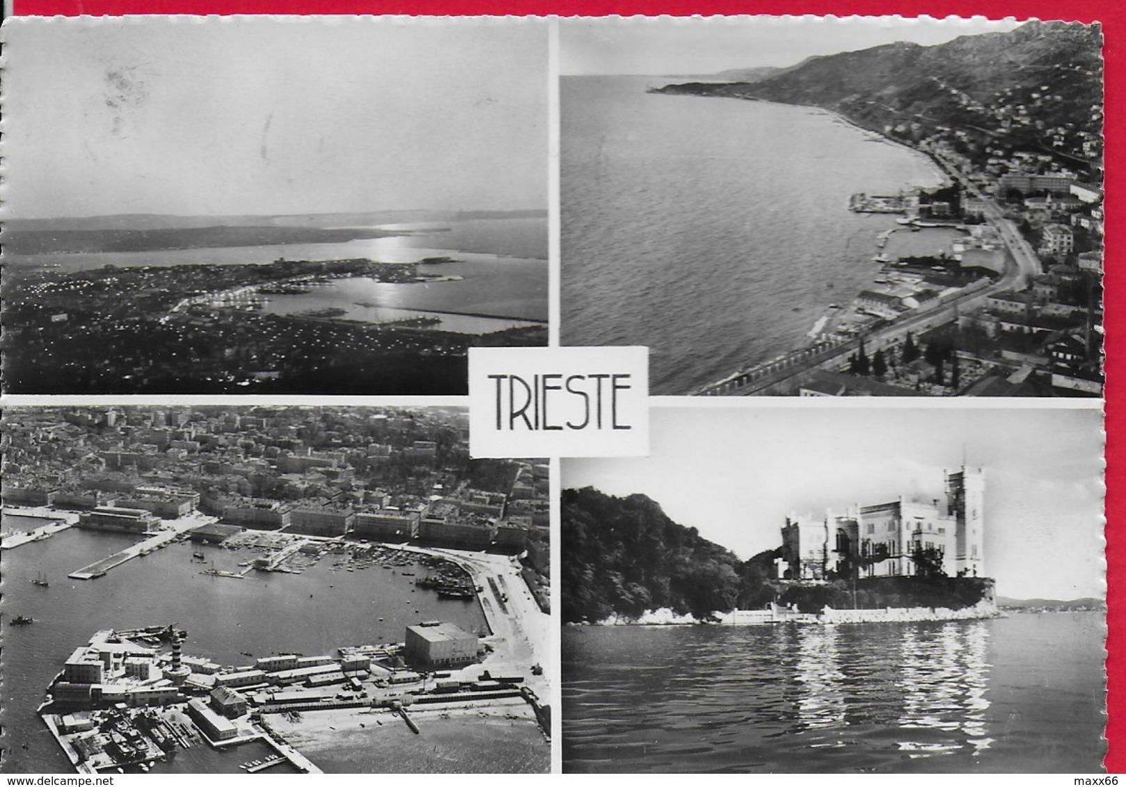 CARTOLINA VG ITALIA - TRIESTE - Vedutine Multivue - 10 X 15 - ANN. 1955 - Trieste