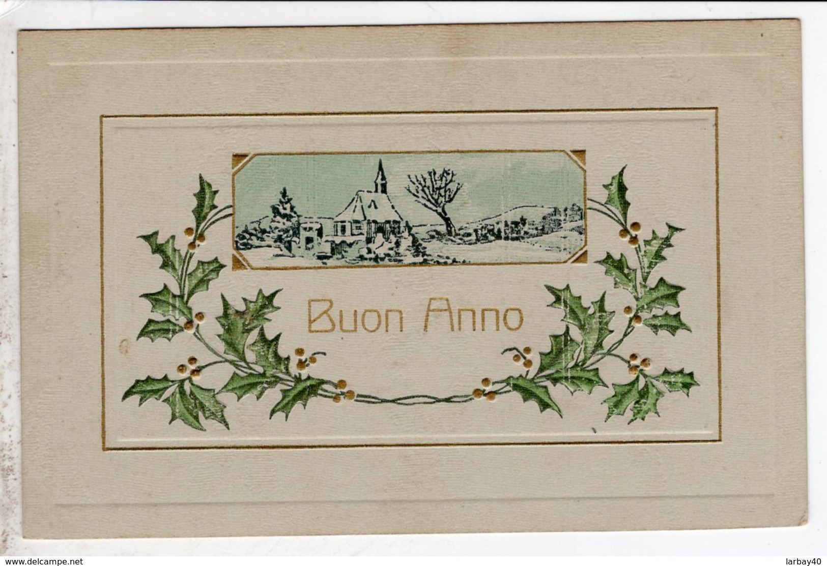 Cpa Carte Postale Ancienne  - Buon Anno - Año Nuevo