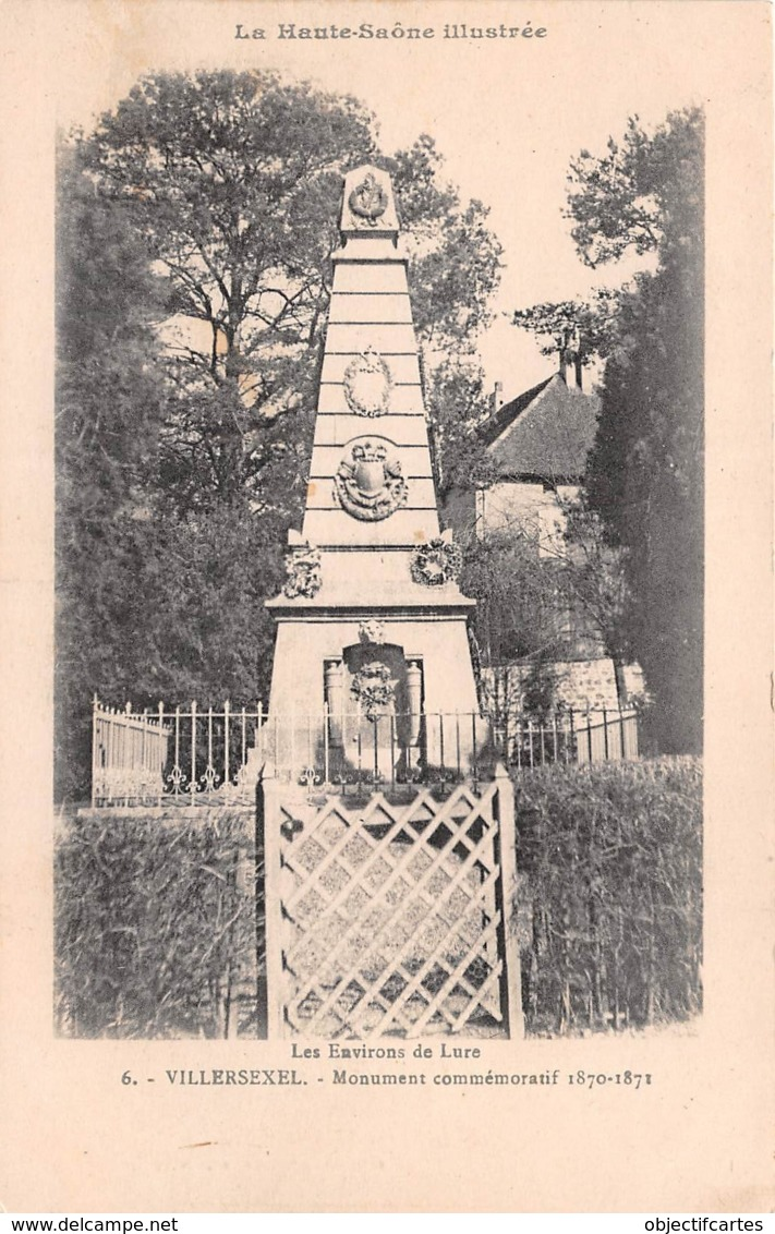 VILLERSEXEL Monument Commemoratif 1870 1871 Les Environs De Lure 18(scan Recto-verso) MA2002 - Otros Municipios