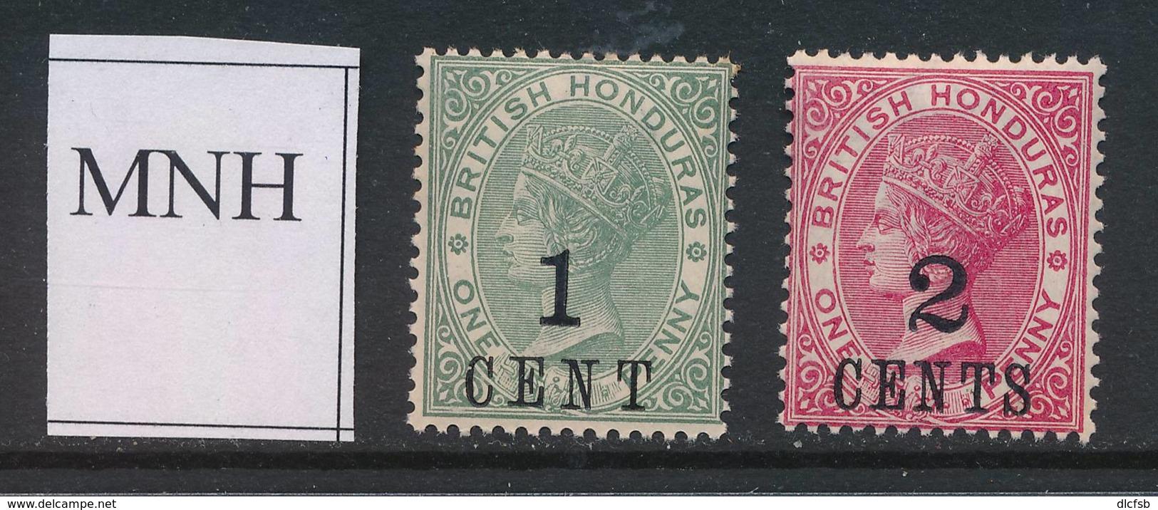 BRITISH HONDURAS, 1888 1c, 2c Unmounted Mint - Brits-Honduras (...-1970)