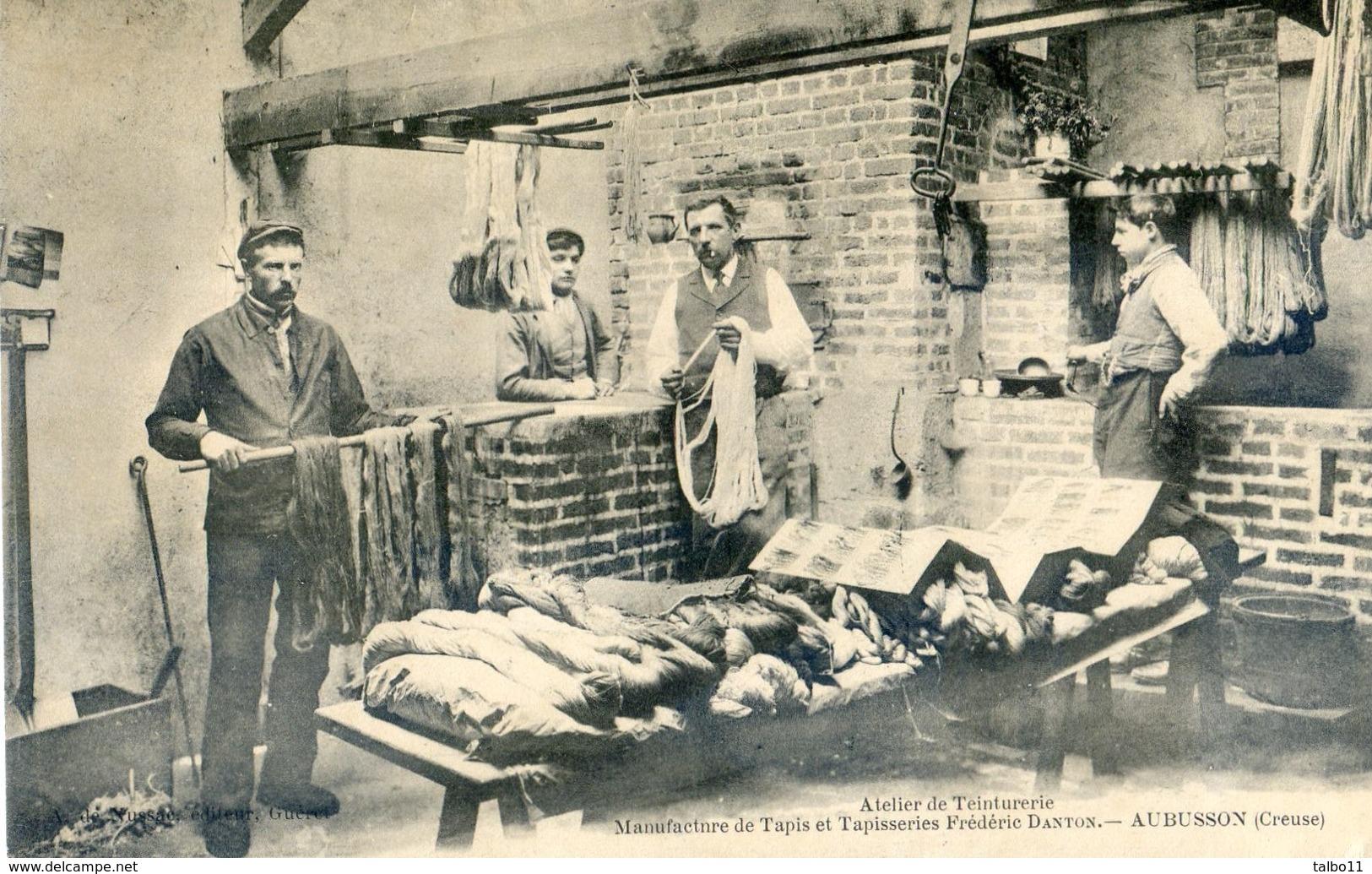 23 - Aubusson - Manufacture De Tapis Et Tapisseries Frédéric Danton - Atelier De Teinturerie - Aubusson