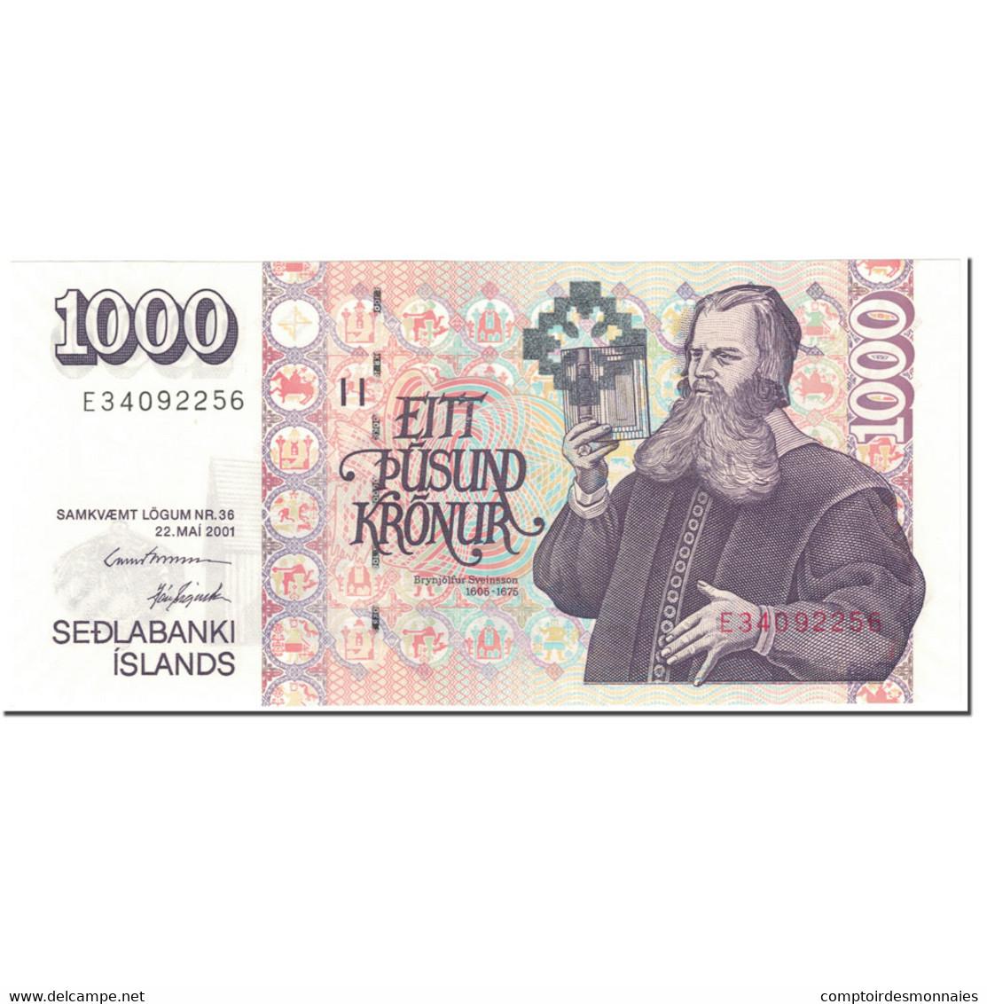 Billet, Iceland, 1000 Kronur, 2001, 2001-05-22, KM:59, NEUF - IJsland