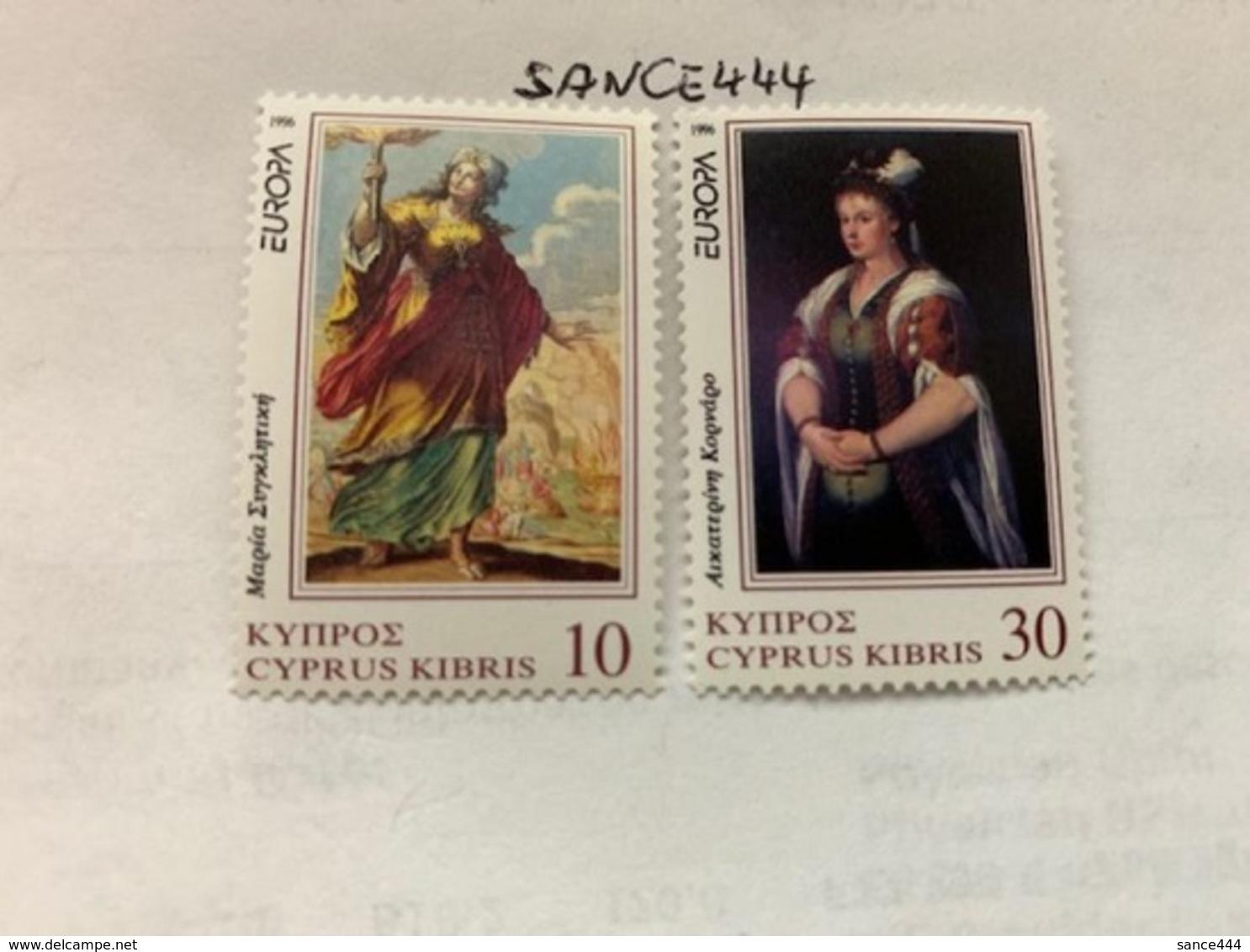 Cyprus Europa 1996 Mnh #ab - Cyprus (Republic)
