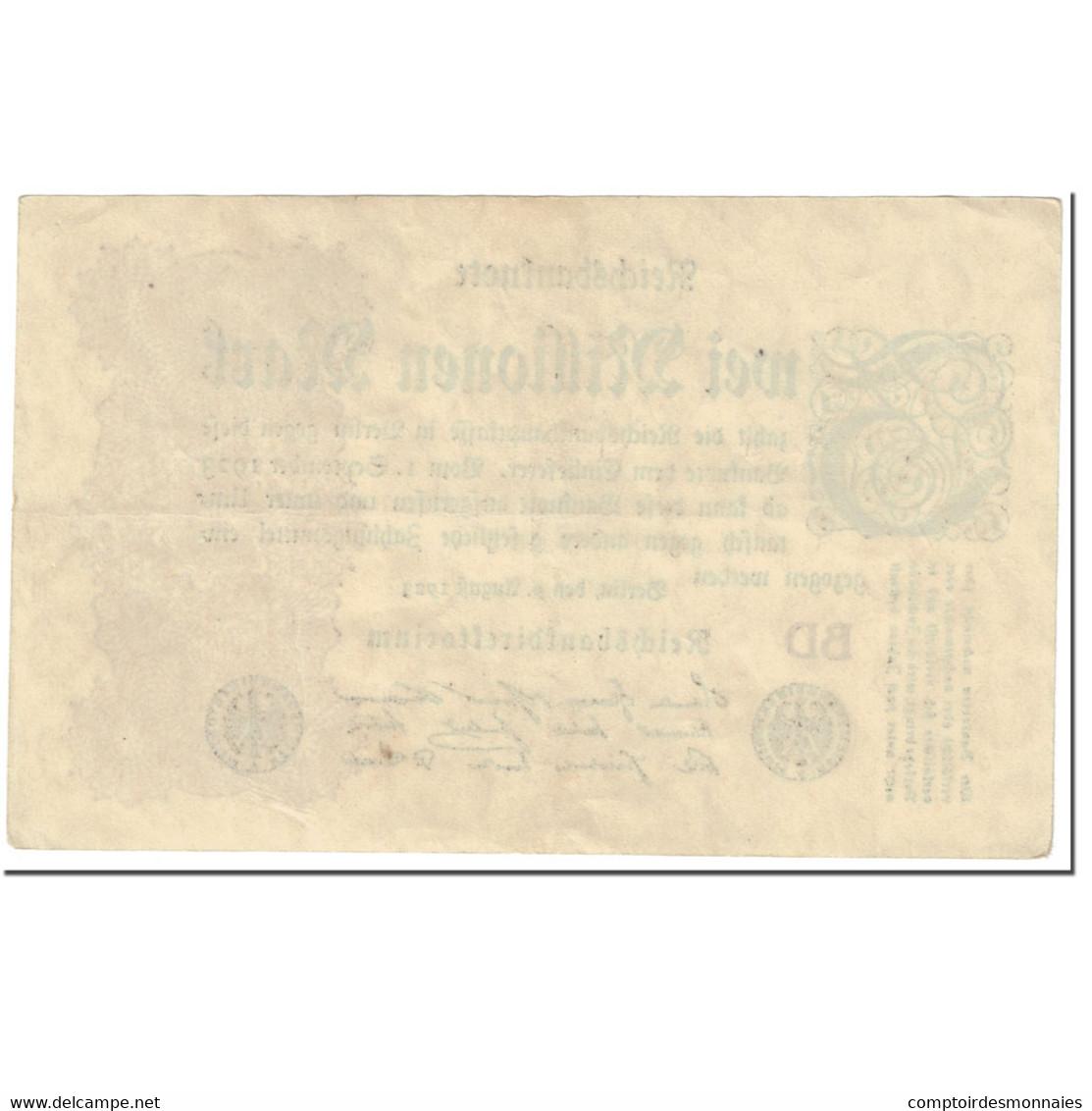 Billet, Allemagne, 2 Millionen Mark, 1923, 1923-08-09, KM:104b, TTB - 2 Millionen Mark