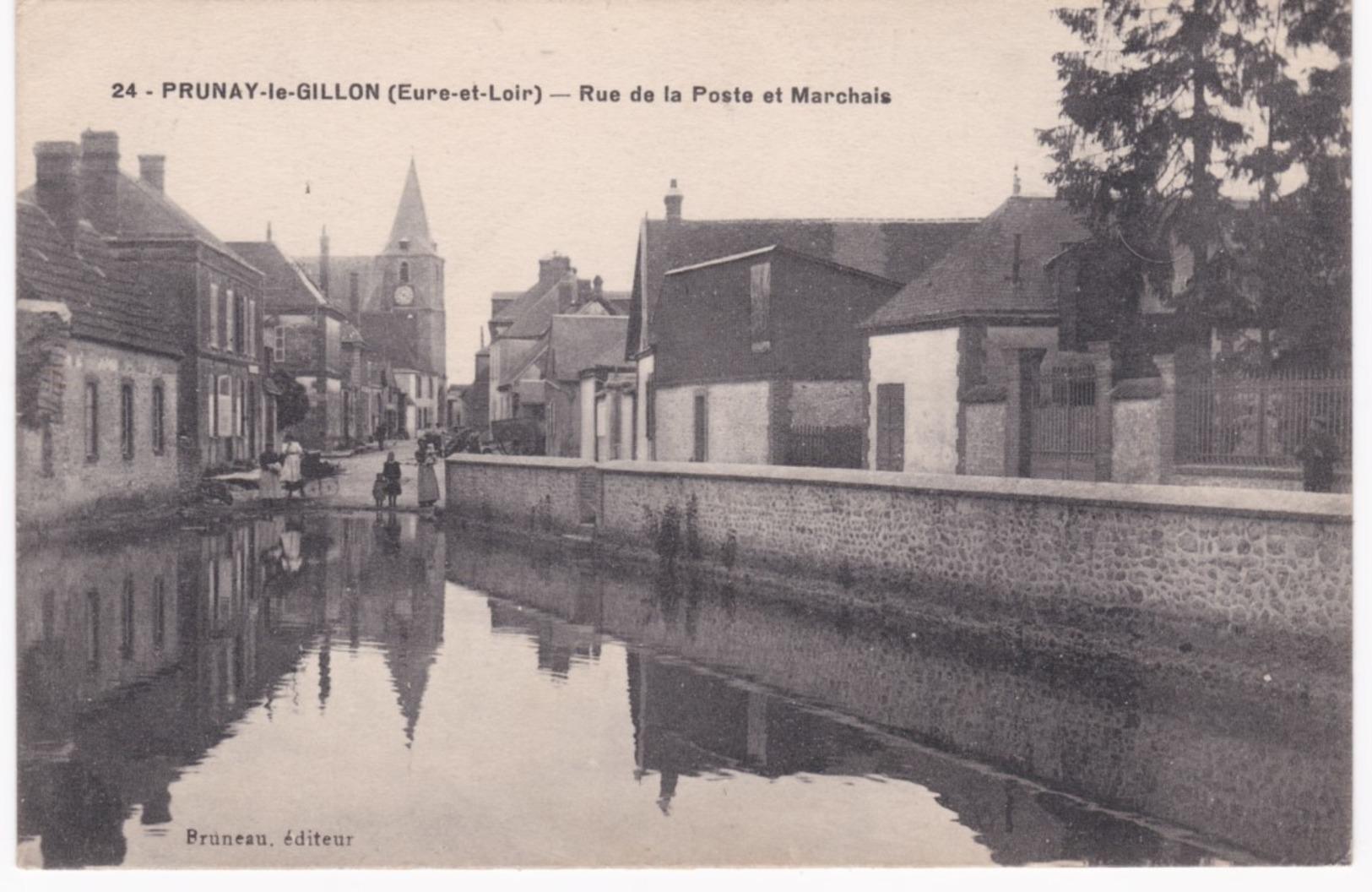 28 Eure Et Loir -  PRUNAY-le-GILLON -  Rue De La Poste Et Marchais - Autres Communes